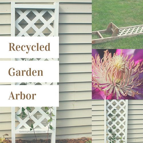From Trash to Treasures Garden Arbor