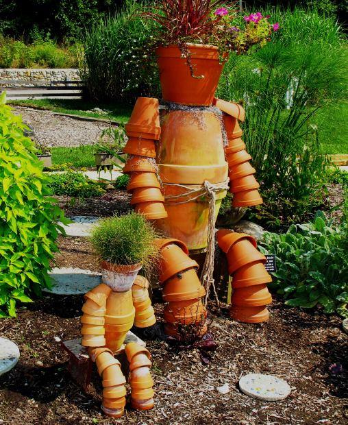 How to Build a Terra Cotta Clay Pot Garden Person