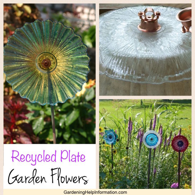 Recycled Plate Flowers