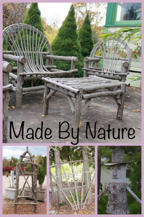 Garden Craft Ideas Made From Wood or Sticks