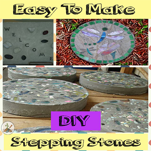 How to Create Easy Stepping Stones for the Garden Out of Quikcrete Concrete DIY Garden Decor