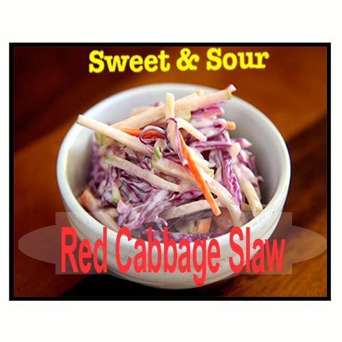 Sweet and Sour Red Cabbage Slaw