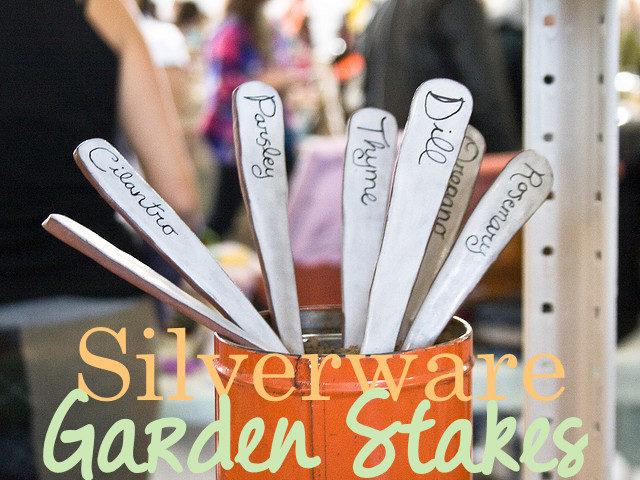Silverware Garden Stakes