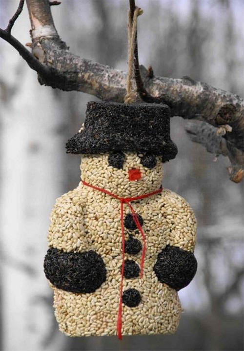 Snowman Seed Ornament