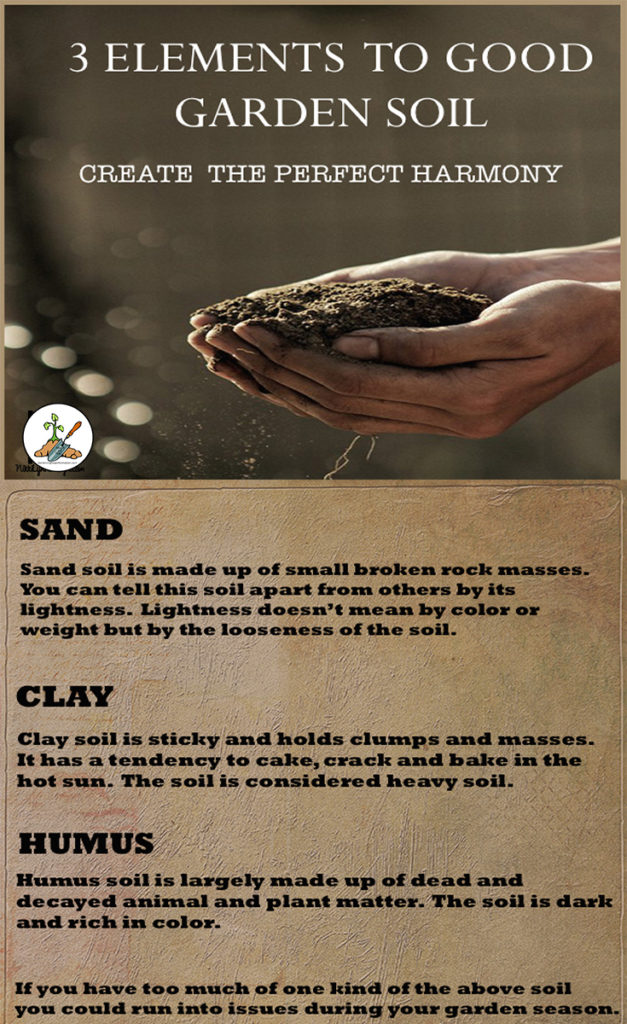 There are three elements all garden soil should have, a healthy balance of each will provide the best possible outcome for your garden plants.