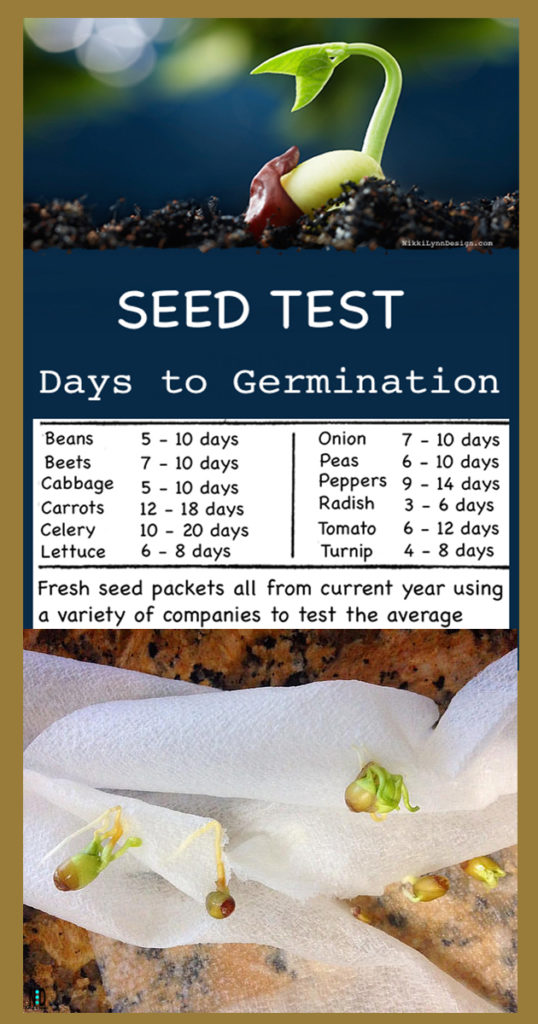 How many days does it take for garden seeds to germinate