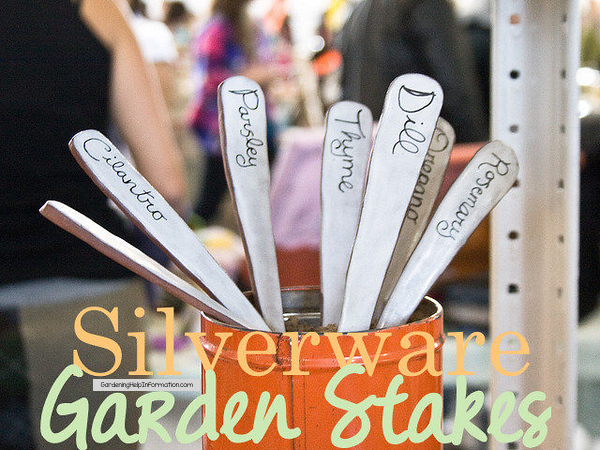 Silverware Garden Stakes Engraved