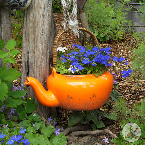 Recycle an old tea kettle as a flower planter in Your Garden
