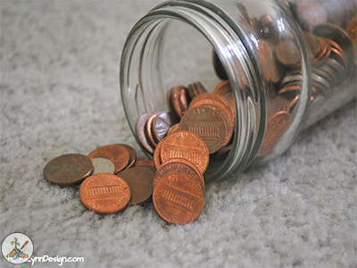 Look for a handful of pennies that have a date BEFORE 1982.  Pennies before 1982 were made from real copper.  Copper will slow the growth of algae in a bird bath.